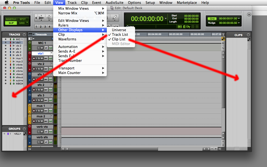 Create Custom Menu Command Keys for AVID's Pro Tools