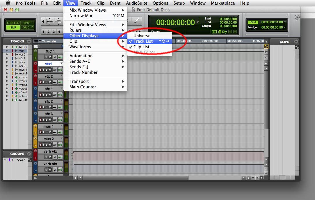 Create Custom Menu Command Keys for AVID's Pro Tools
