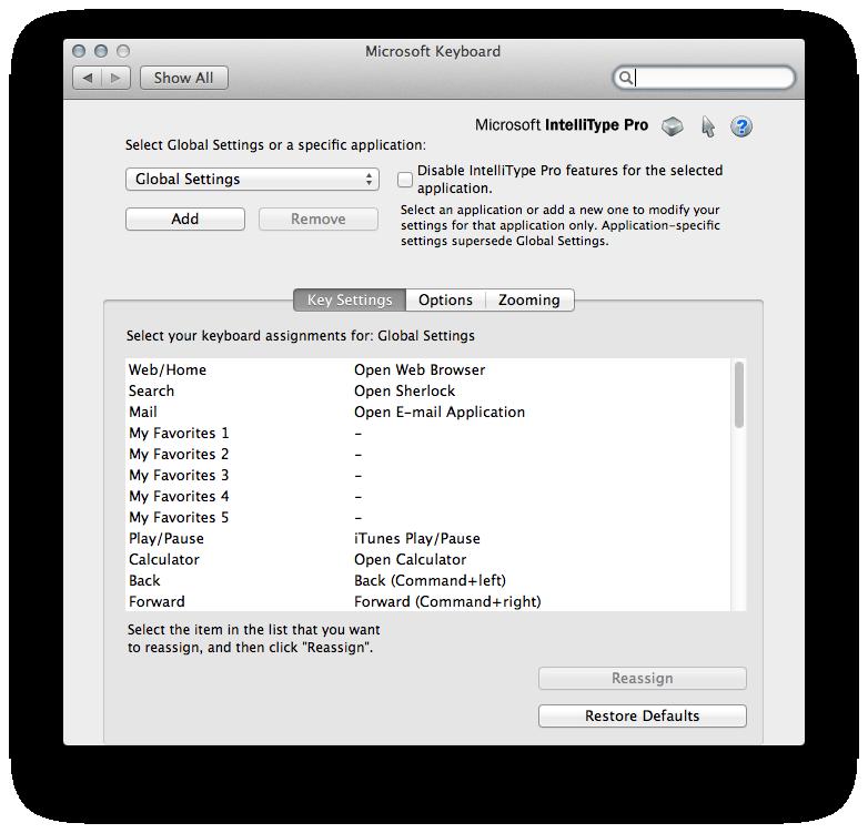 Microsoft IntelliType Pro Mac