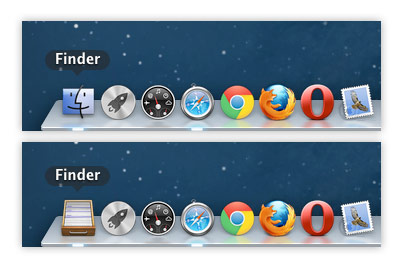 Mac OS X Change Finder Dock Icon