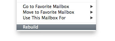 Apple Mail Rebuild Mailbox