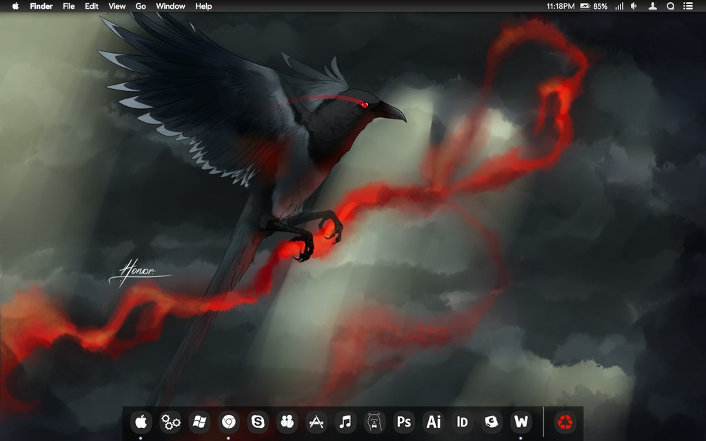 Mac OS X Desktop Screenshot