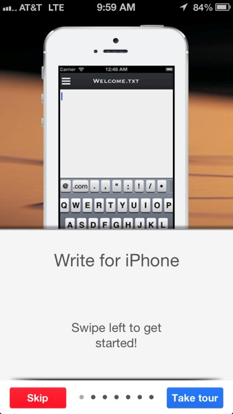 Review: Write for DropBox - A Text Editor and Notes App for iPhone