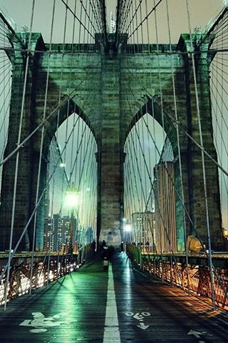 Brooklyn Bridge Night New York City