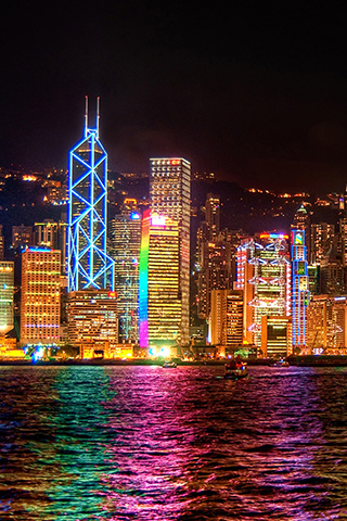 Hong Kong City Night Lights